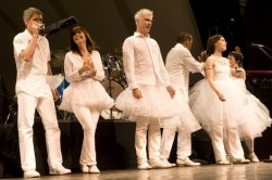 One of about 50 photos from the David Byrne concert by Brooklyn Vegan