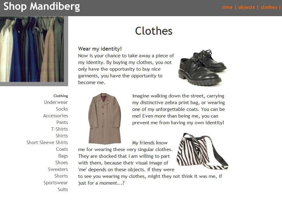 A screen capture from Shop Mandiberg