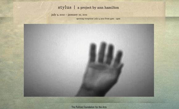 stylus, a project by ann hamilton