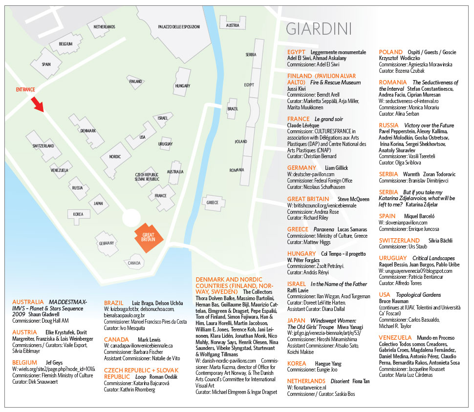 Cutting The Venice Biennale Jargon - Venice biennale 2016 map