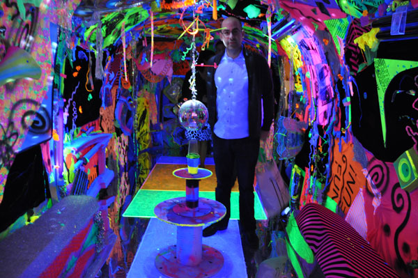 Not drinking the kool aid at wynwood walls a black light extravaganza awaited you inside but the rules said that only four people could be in the trailer at any one time mozeypictures Image collections