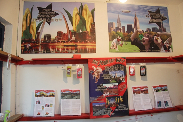 A shot of some of the promotional materials of the different tours offered.