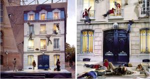 Leandro Erlich's mirrored installation. Image via leandroerlich.com.ar.