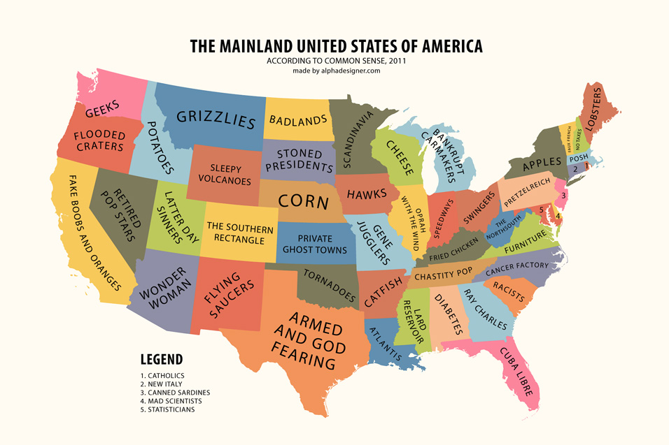 Stereotyping peoples stereotypes of the world mainland usa according to common sense the world according to the united states in 2010 gumiabroncs Choice Image