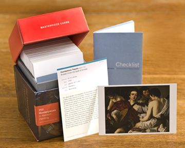 The Masterpiece Cards are a box set of 250 cards. Image via themasterpiececards.com.