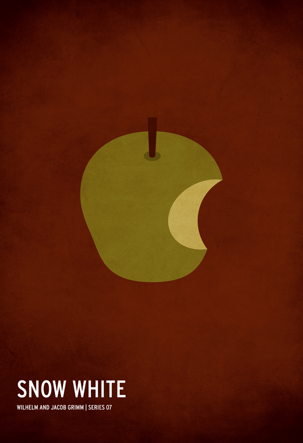 A minimalist Snow White poster design by artist Christian Jackson.