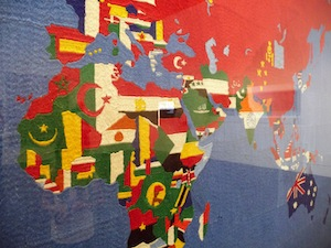 A detail of Alighiero Boetti's Mappa. Photo by the author.