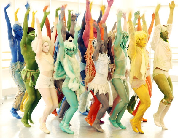 """Dancers rehearsing for """"Rave"""""""