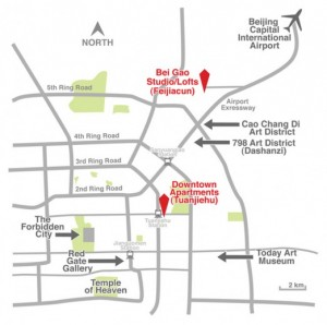 Red Gate's residency program places artists within convenient reach of Beijing's artist communities in the northeastern and southeastern parts of the city. Image via http://www.redgategallery.com.