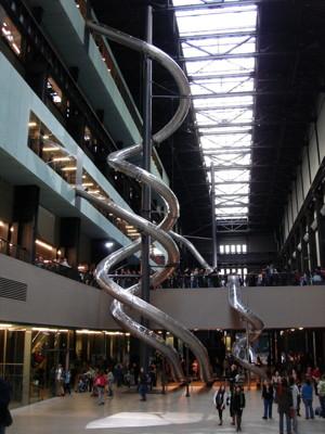 Carsten Holler slides at Tate Modern