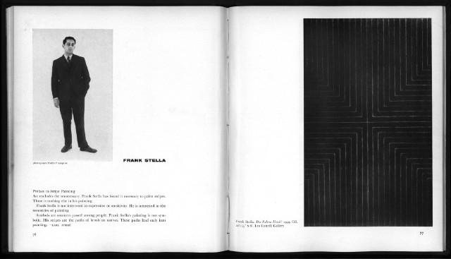 "Frank Stella ""Sixteen Americans"" catalogue spread"