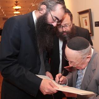 Itshak Holtz, Shmuel Pultman and Dovy Andrusier