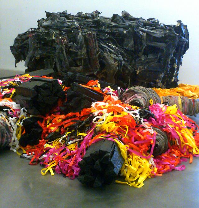"Phyllida Barlow, ""siege,"" installation view"
