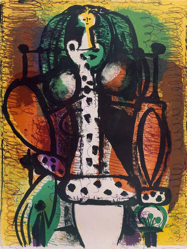 """Pablo Picasso, """"La Femme au fauteil"""""""