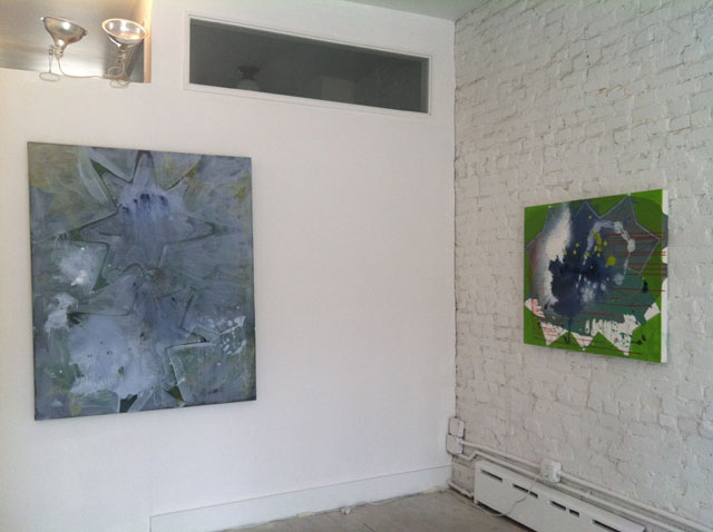 """Installation view of """"Stars"""" at Art 101"""