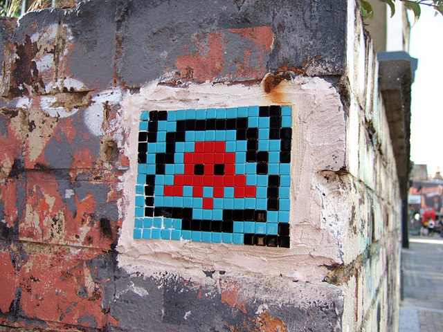 Invader in London, image from Wikipedia.
