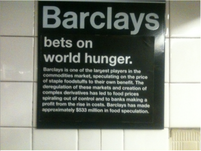 Barclays bets on world hunger.