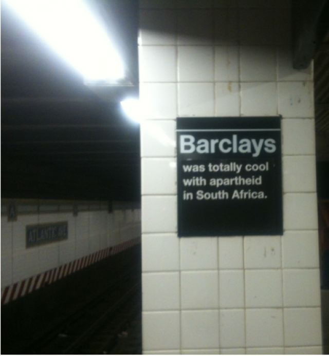 Barclays and Apartheid.