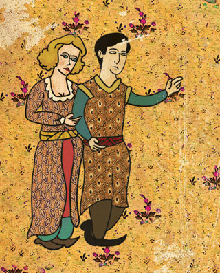 """Detail of Murat Palta's poster for """"The Godfather"""""""
