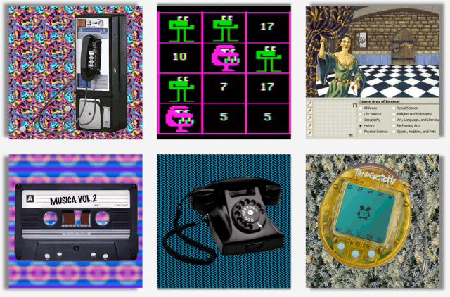 Screen shot of the Museum of Endangered Sounds