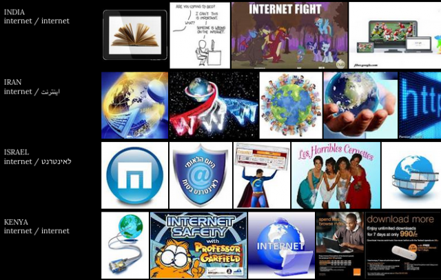 """Screen shot of my searching """"Internet"""" on Taryn Simon and Aaron Swartz's """"Image Atlas"""" (2012). The first project featured on First Look."""