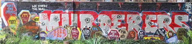 """Murderers"" mural"