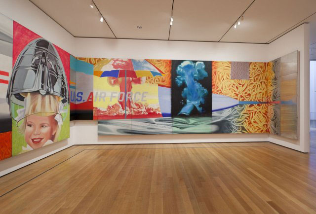 """James Rosenquist's """"F-111"""" installed at MoMA"""
