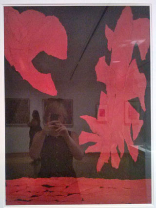 """The author's reflection in George Sugarman's """"Untitled"""" (1953)"""