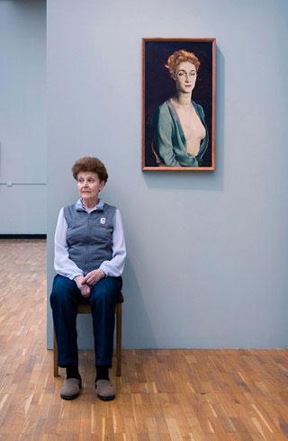"""Altman's Portrait of I.P. Degas, State Tretyakov Gallery"""