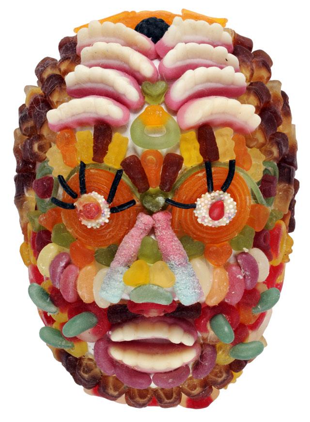"One of Jordan McKenzie's ""Woolworths Death Masks"""