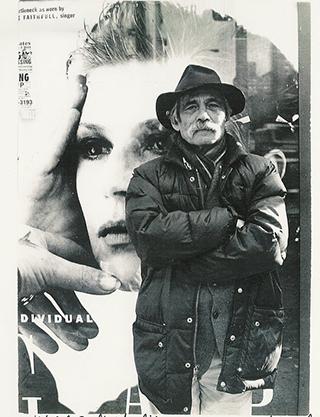 Photo collage of Frank Kuenstler, by Ira Cohen