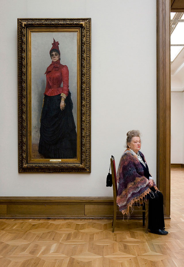 """""""Repin's Portrait of Baroness von Hildenbandt, State Tretyakov Gallery"""""""