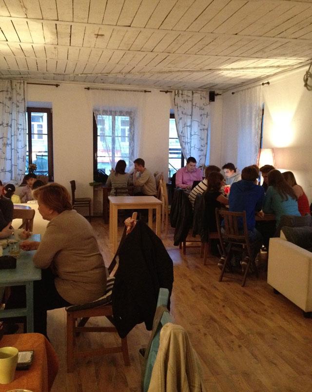 The large room at Tsiferblat