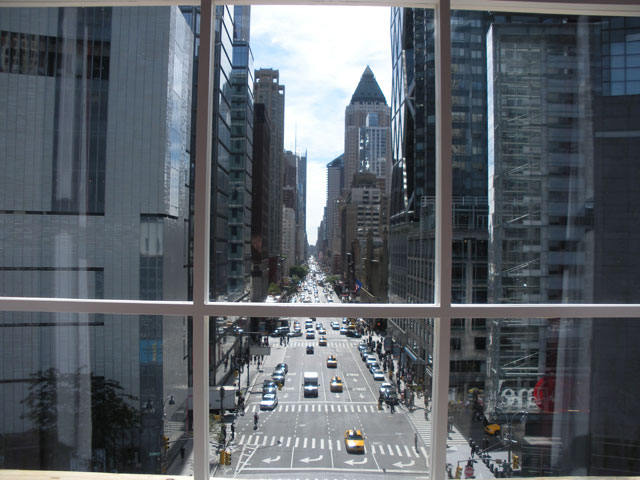 Looking south down Eighth Avenue