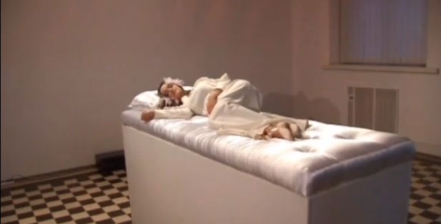 One of Polataiko's Sleeping Beauties at the museum in Ukraine