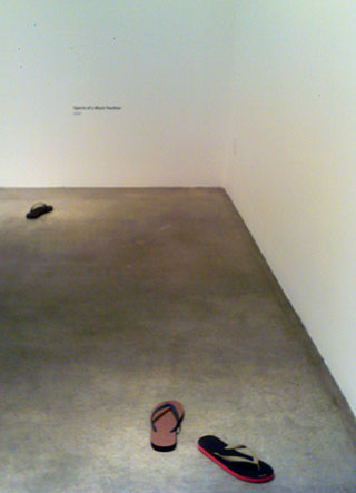 """Installation view, """"Andreas Slominski: Sperm"""" at Metro Pictures"""
