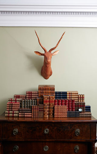 A bookcase at Honey & Wax Rare Booksellers