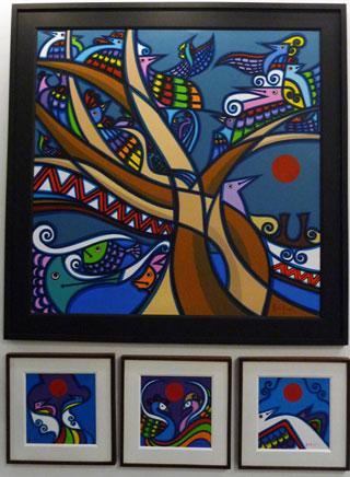 "Abdulmari Imaom, works from the ""Sarimanok"" series"