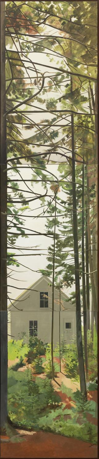 "Lois Dodd, ""Woods (triptych)"""