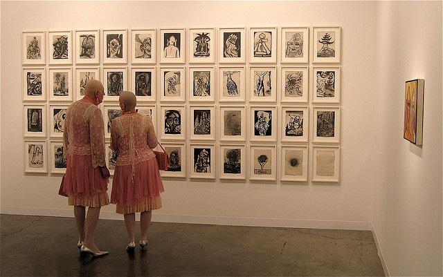 Eva and Adele at Art Basel Miami Beach 2011