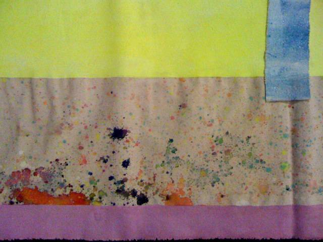 """Detail of """"shroud"""" 2012 by Sarah Cain, from the exhibition in the Church of Santissimo Sudario"""