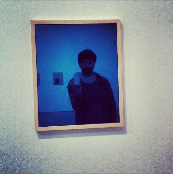 Brian Droitcour's selfie (Image via dismagazine.com)