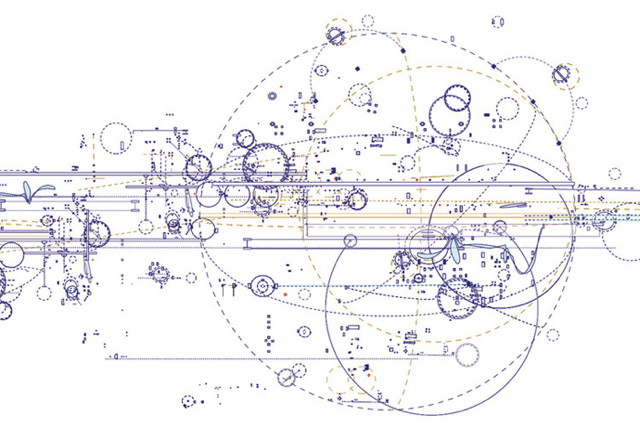 """Robert Strati, """"Composition of Circular Resonance"""" (detail) (2012), archival inkjet print on paper, 25 x 24 inches (image via Robert Henry Contemporary)"""