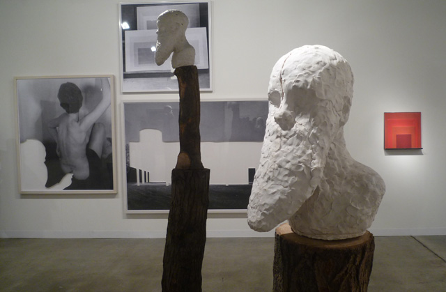 Work by Daniel Silver (foreground) and Jose Dávila (background) at Galería OMR