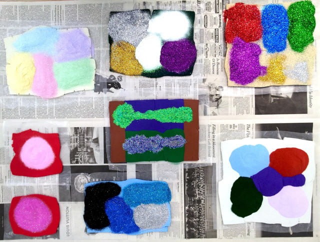 "Polly Apfelbaum, ""Flatland: Color Revolt"" (image via Hansel and Gretel Picture Garden)"