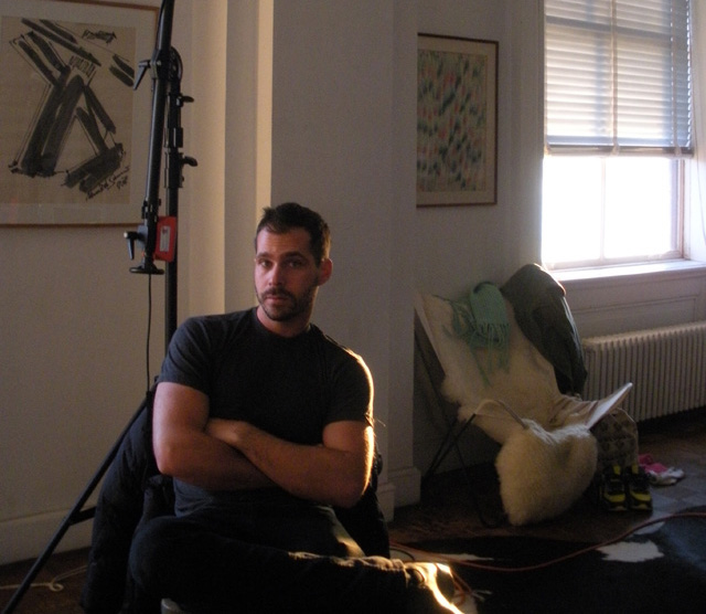 Nick Suttle in his apartment/studio at Westbeth