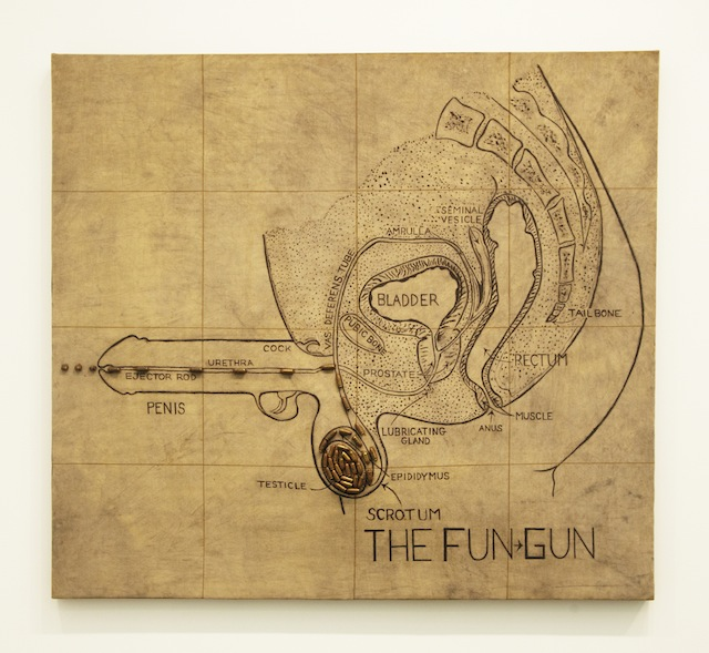 "Judith Bernstein, ""Fun-Gun"" (1967)"