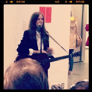 Patti Smith at MoMA (image via @museummodernart) (click to enlarge)