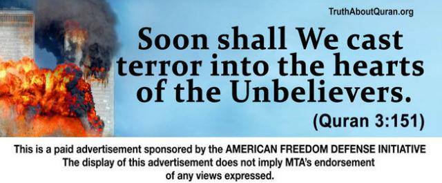 AFDI's new anti-Islam ad (Image via NYTimes.com)
