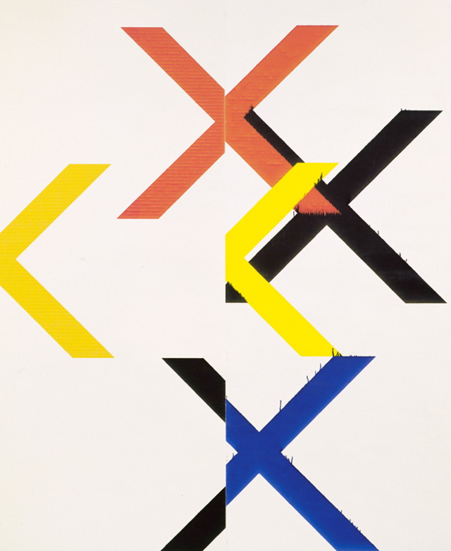Wade Guyton (b. 1972), Untitled, 2010. Epson UltraChrome inkjet on linen; 84 × 69 in. (213.4 × 175.3 cm). Collection of the artist. © Wade Guyton. Photograph by Lamay Photo